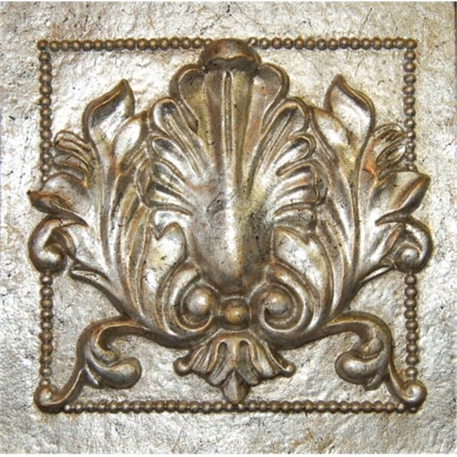 Hickory Manor House Single Crest Tile Gilt Silver
